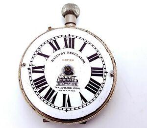 Antique-Railway-Regulator-Lever-Trade-Mark-15301-Pocket-watch-for-restoration