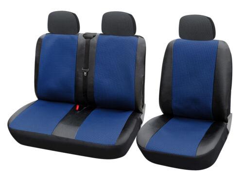 Sitzbezüge 1+2 Schonbezüge für TRANSPORTER ohne Seitenairbag Blau//Schwarz AS7325