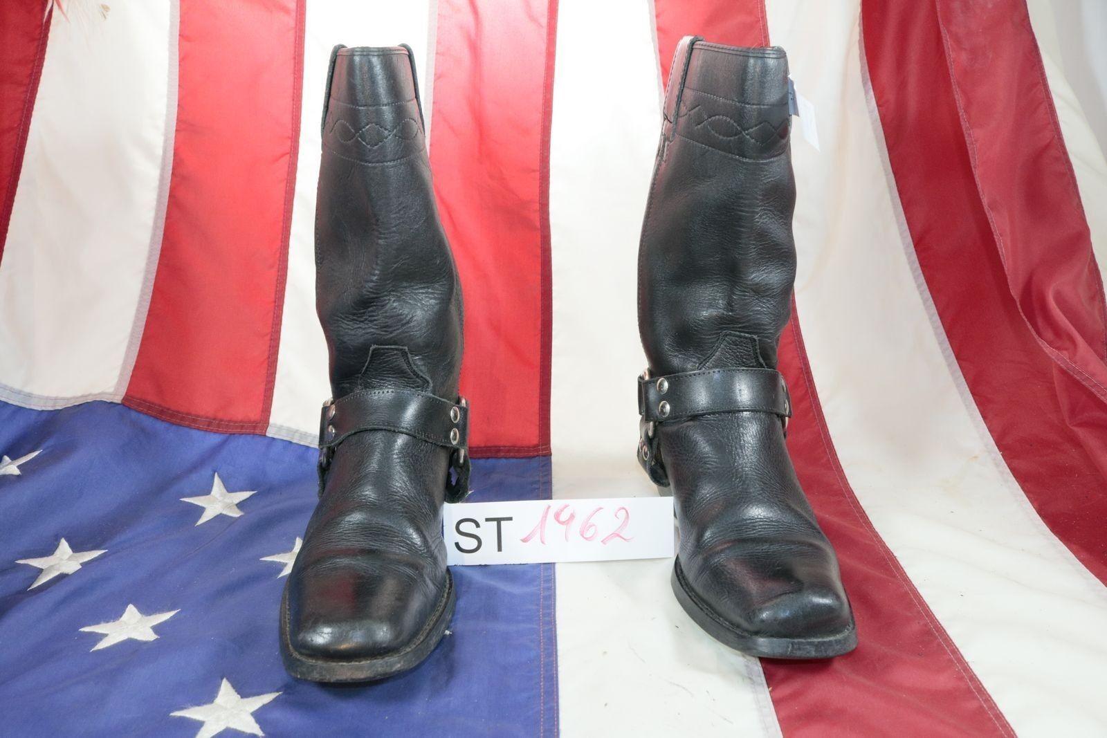 botas Bill Montana (COD. St1962) usado N.42 Hombre Negro Cuero Vaquero Country