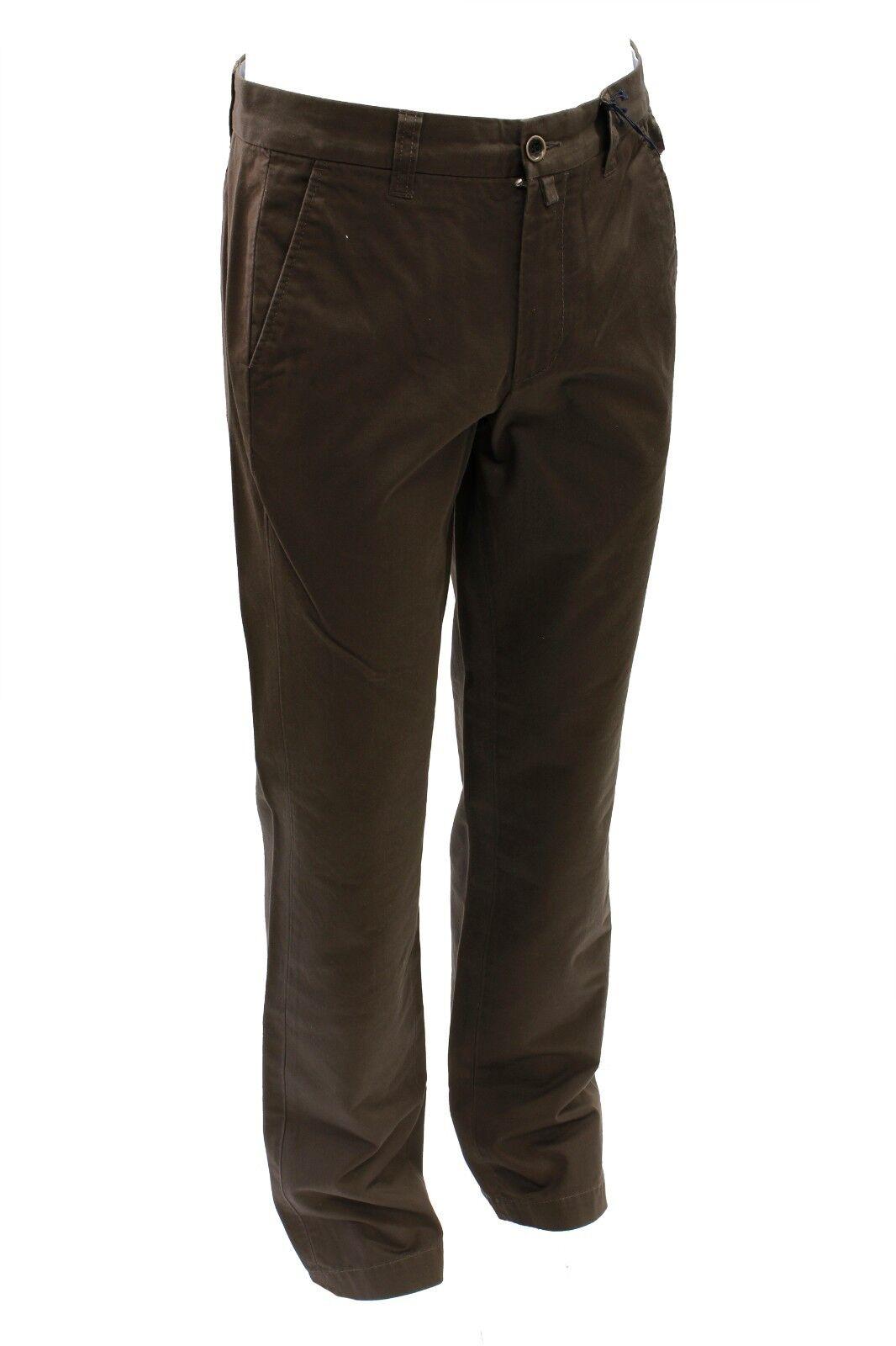 c1d15cbdf8 Pantalone da uomo Marroneee classico Conte of Florence cotone casual ...
