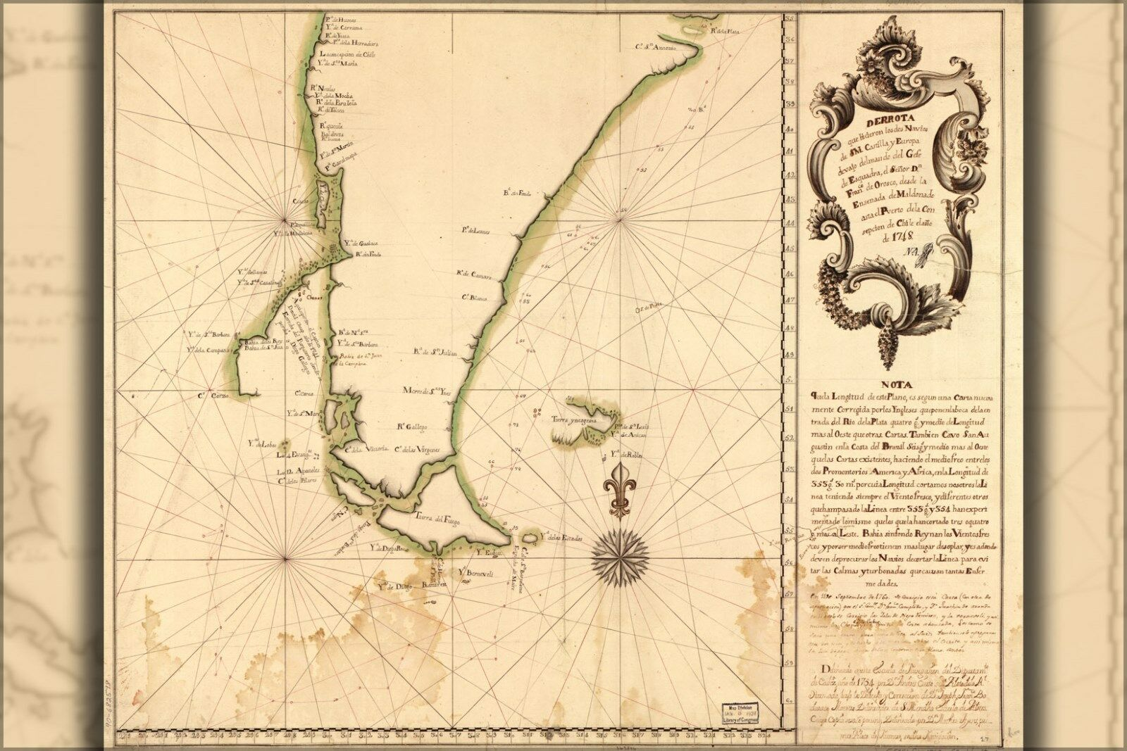Poster, Many Größes; Map Of Cape Horn In 1748