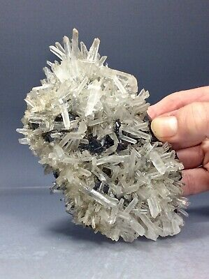8.2cm 136g Pyrite Sphalerite Stone Rock Mineral from Huaron Peru Clear Quartz Crystal