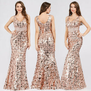 Ever-Pretty-Sequin-V-Neck-Formal-Long-Evening-Dress-Cocktail-Prom-Ball-Gown-7872
