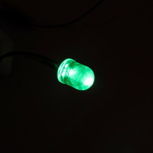 Soporte 10mm 12V DC emisor de luz LED difusa precableado Diodo Cable 20cm