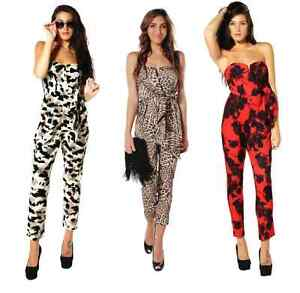 dbaa91fb67a4 Image is loading NEW-Womens-Overall-Vintage-Jumpsuit-Catsuit-Jumper-Rompers-