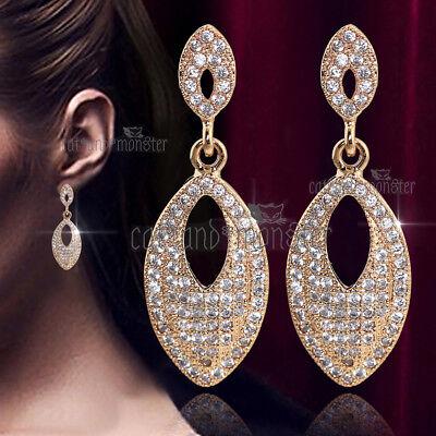 Jewellery 18k Rose Gold Gf 11mm White Pearl Drop Dangle Solid Ladies Girls Dress Earrings Jewellery Watches Evedding It