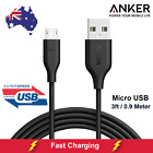 Anker PowerLine Micro USB Cable Heavy Duty Super Fastest Charging 0.9m 3ft Black