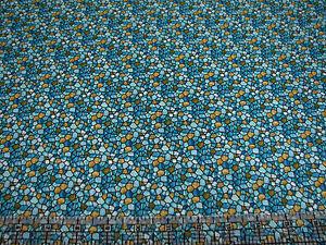 1 Yard Quilt Cotton Fabric- Benartex Byzantium Mosaic Tile Coordinate Blue Green