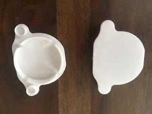 2 IKEA PLASTIC HINGE HOLE COVER CAPS LIDS FOR KITCHEN ...