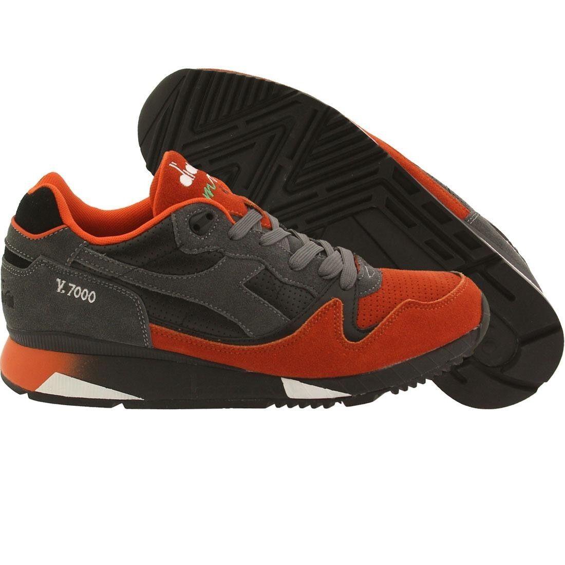 Diadora Men V7000 black orange castlerock 161998C5875
