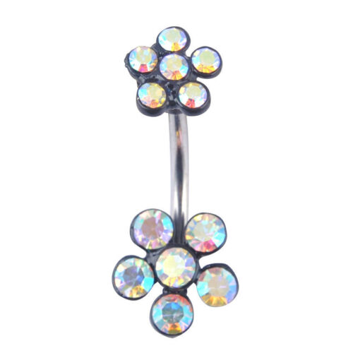 Fashion femmes Crystal Navel Ring Belly Button Rings Dangle Pendentif Body Piercing