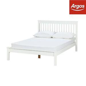 Argos Home Aspley Small Double Bed Frame White Ebay