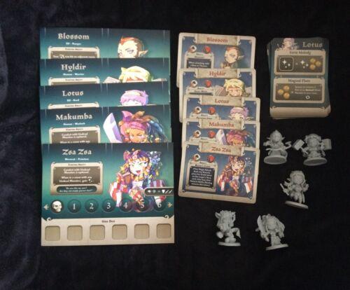 Masmorra Dungeons Of Arcadia Kickstarter Exclusive 5 FEMALE HEROES Arcadia Quest