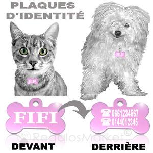 Plaque/médaille D'identité/id Nom Tag Gravée Pour Colliers De Chats Et De Chiens Service Durable