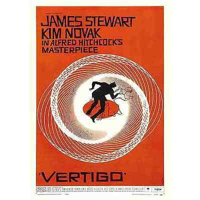 """Alfred Hitchcock's """"Vertigo"""" Film Posters  - A3 & A4"""