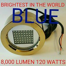 Blue WORLDS BRIGHTEST DRAIN PLUG LED LIGHT 120 WATTS 8,000 Lumen 3 YEAR WARRANTY