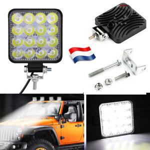 LED-Worklight-48W-Lampe-projecteur-de-travail-12V-24V-Offroad-SUV-phare-feux-FR