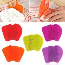 3pcs Plastic Kitchen Scraper Butter Cake Dough Cutter Flour Tool DIY Baking Mold