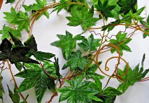 environ 2.74 m 9 ft vert//Maple//automne guirlande//Mariage//Fleurs//DÉCORATION//ARTISANAT.