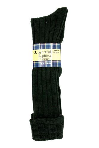 Herren 65/% Wolle Schottisch Highland Wear Schottenrock Schlauch Socken UK Größe