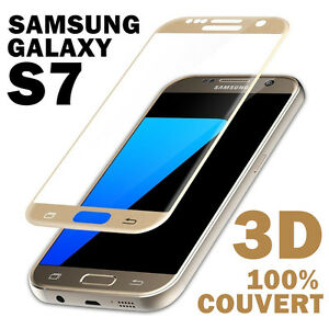 SAMSUNG-GALAXY-S7-Edge-VITRE-VERRE-TREMPE-3D-Film-protection-ecran-Integral-full