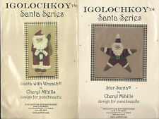 Lot of 2 NEW Igolochkoy Santa Series Punchneedle Kits