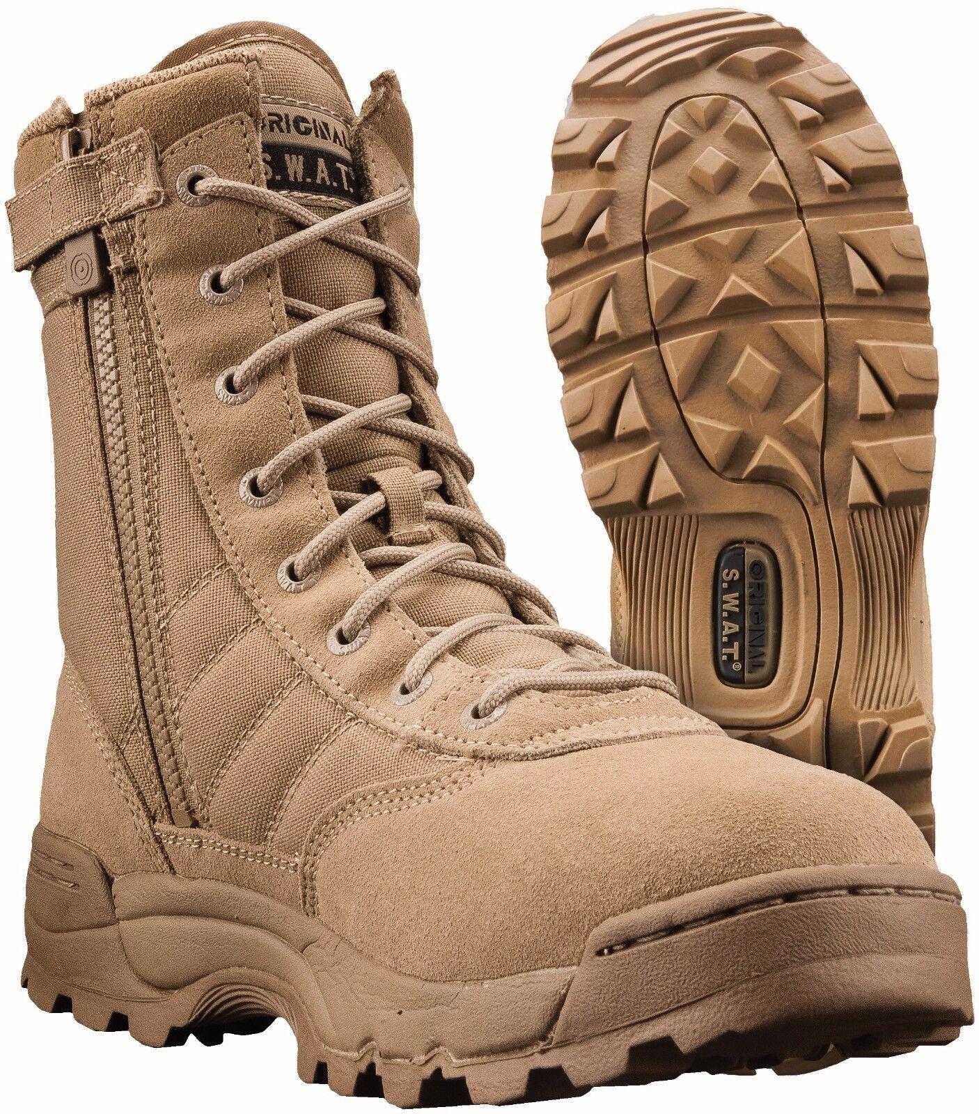 Original SWAT Classic 9 inch Side Zip Tactical Boot Tan