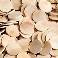 Wood Circles Round Disc Unfinished Wood Cutouts Ornament Craft Project Coins