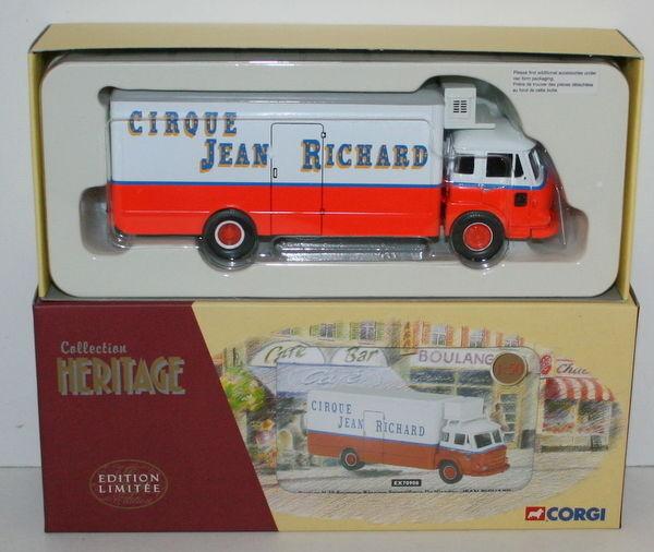 CORGI 1 50 Sammlung HERITAGE EX70908 SAVIEM JL20 FOURGON CIRQUE JEAN RICHARD
