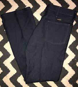 Vintage Wrangler Azul Negro Poliester Western Cowboy Pantalones De Hombre Talla 33 X 30 Ebay