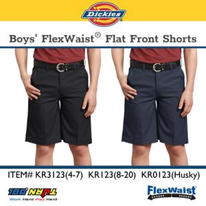 Dickies Boys Shorts Flexwaist Black Size 4