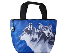Wolf Lunch Bag Tote, Wolves by Salvador Kitti - Support Wildlife Conservation