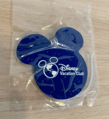 Disney Vacation Club DVC Luggage Tag Mickey Mouse Ears Rubber Blue D23 Expo 2019