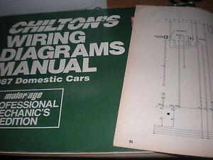 1987 LINCOLN MARK VII WIRING DIAGRAMS SCHEMATICS MANUAL ...