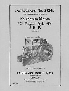 Fairbanks-Morse-2-HP-Style-D-Instructions-No-2736D