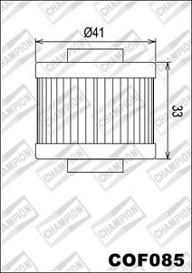 COF085-Filtre-A-Huile-CHAMPION-Peugeot-125-Jet-Force-Kompressor-2009-2010-2011