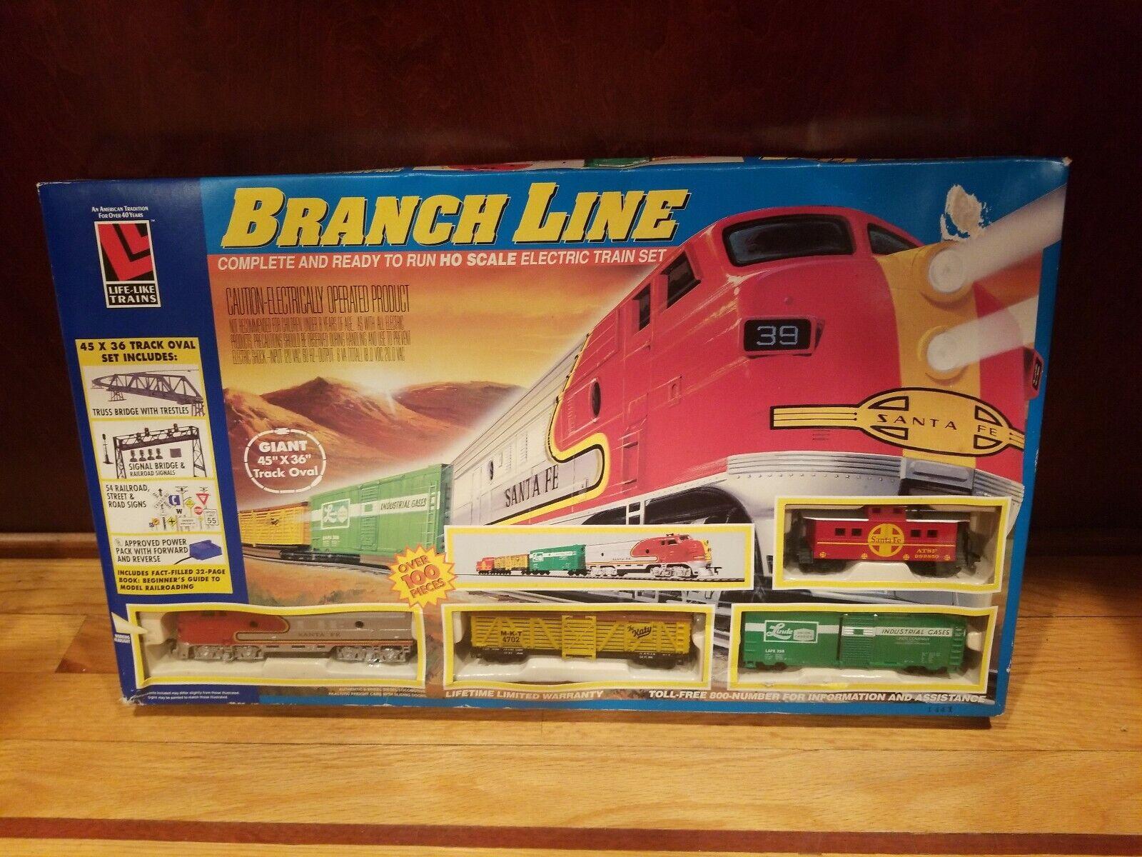 Life-Like Trains BRANCH LINE HO Scale SANTA FE Complete & Ready to Run Train Set