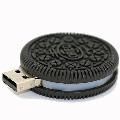 Mini Oreo Cookie USB 2.0 Memory Stick Flash pen Drive 8GB 16GB 32GB 64GB BP144