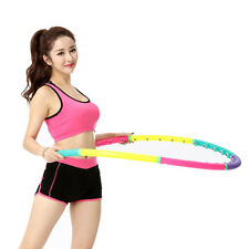 37oz Weighted Hula Hoop Therapy Massage Abdominal Fitness Ab Workout Exercises