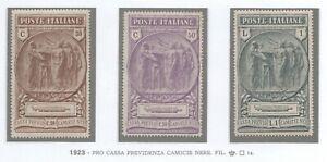1923-REGNO-PRO-CASSA-PREVIDENZA-CAMICIE-NERE-OTTIMA-CENTRATURA-GI-CERT-CAFFAZ