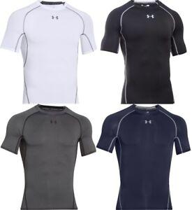 grosor Pelágico Rama  Under Armour Men's UA HeatGear Compression Shirt, Short Sleeve Shirt  1257468 | eBay