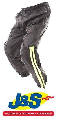 2XL Frank Thomas Dallas Rain Pants Motorcycle Over Trousers Waterproof Black Yellow J/&S
