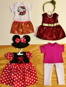 """Doll Clothes LOT Fits 18"""" American Girl 4 Outfits #33 C  Minnie Mouse Tops Pants"""