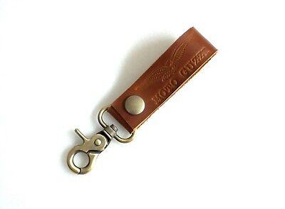 Moto Guzzi Leather Key ring key chain key fob belt loop Handmade