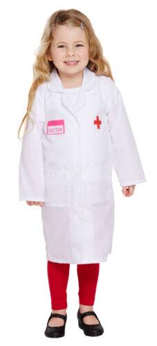 Doctor Girl Nurse Dr Lab Coat Kids Book Week Fancy Dress Costume Age 2-12 Years