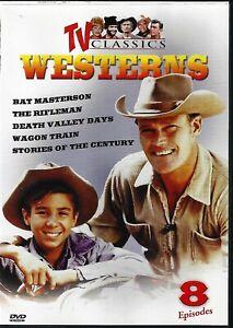 DVD-TV-CLASSIC-WESTERNS-8-EPISODES-DEATH-VALLEY-RIFLEMAN-WAGON-TRAIN-ETC
