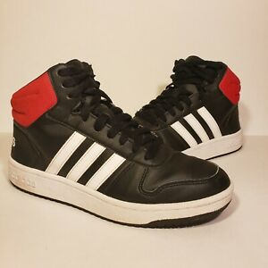 Adidas-Hoops-2-0-Mid-Men-039-s-Boys-Size-7-Black-Red-High-Tops