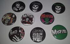 9 The Misfits pin button badges 25mm CBGB Punk Rock The Ramones Cramps Horror