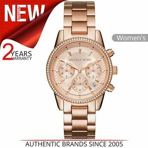 d85b5202b0b5 Michael Kors Ritz Women Watch MK6357│Crystal Index Dial│Rose Gold ...