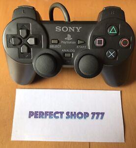 Manette Ps1 Noire Mat Officielle Sony - RARE -Bon État -FR- Testée Nettoyée- PS2